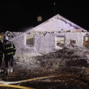 firefighters contain fire