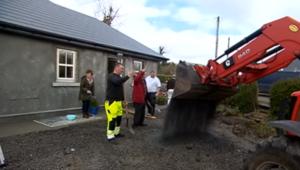 neighbors rebuild house