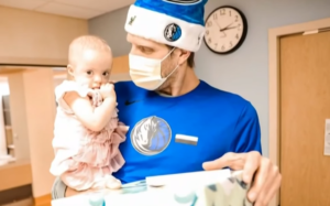 nowitzki visits sick children