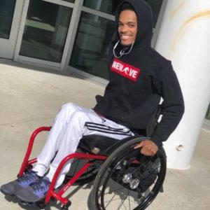 tre in wheelchair