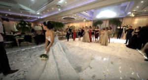 bouquet toss is interrupted