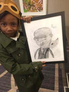 noa's drawing of bessie coleman