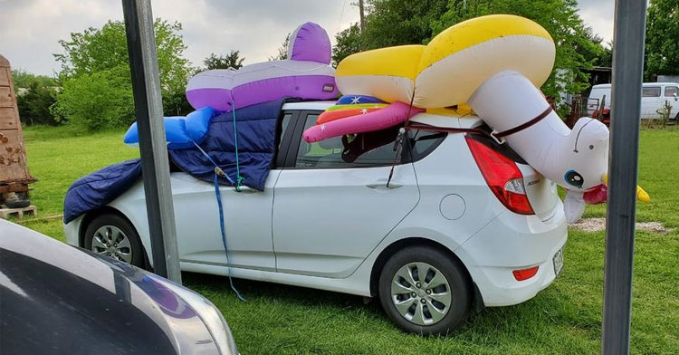 Hail Protection Car Cover >> Texans Protect Cars In Ridiculous Ways From Hail Storm - InspireMore