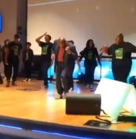 jerome dances church service