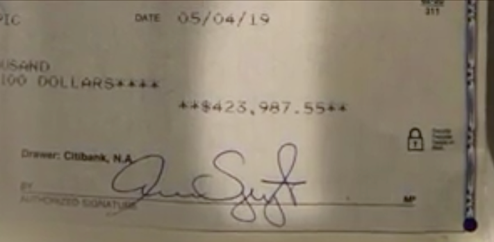 patsy's check