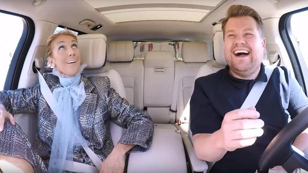 Céline Dion Has James Corden Cracking Up Just Seconds Into Epic Carpool Karaoke.