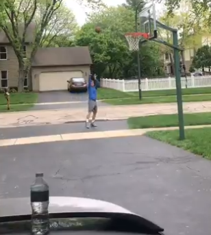 mail carrier hypes up kid