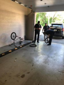 cops fix bike
