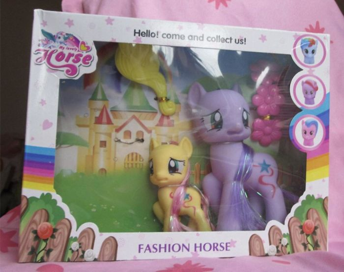 terrified pony toy