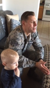 wife surprises airman