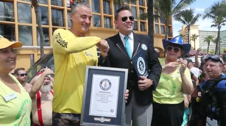 guinness world record underwater cleanup