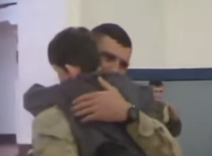 father son hug