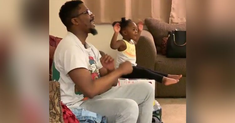 daughter mimic dad