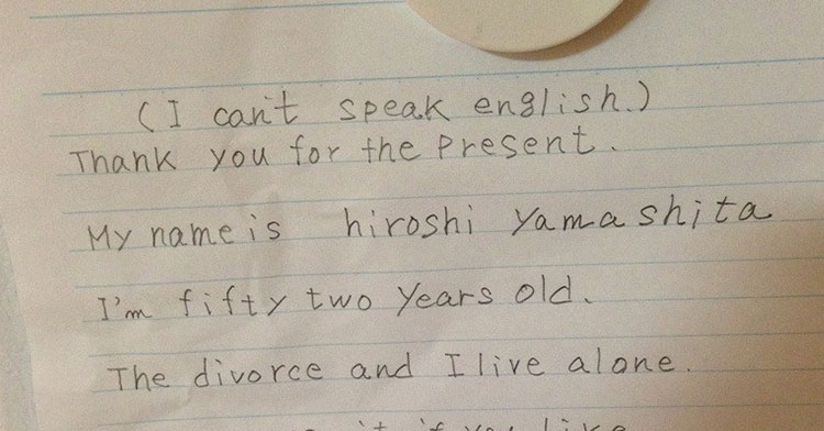 Japanese Man Sends Sweet Thank You Note To Navy Family - InspireMore