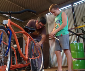 blacksmith builds tandem bike
