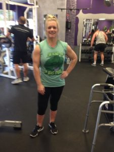 vicki back in gym