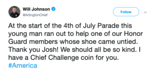 Police Chief Will Johnson tweet