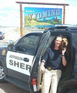 deputy fosler and k9 jessie