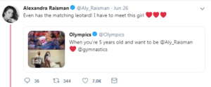 aly raisman tweet