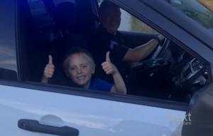 brady in cop car