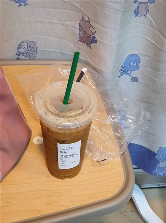sickkids iced venti coffee