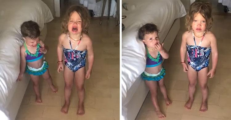 girls temper tantrum