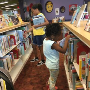 zaria and hailey pick out books