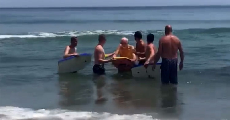 old man boogie board