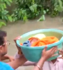 baby flood rescue india