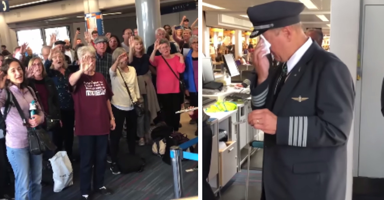 choir sing to aa pilot