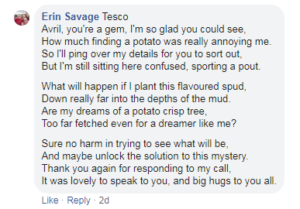 tesco potato poem