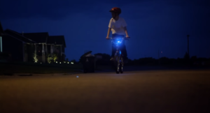 peyton biking at night