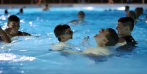 peyton swimming