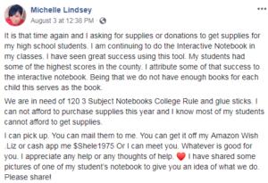 facebook post school supplies