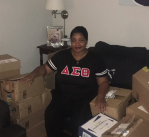 michelle with packages