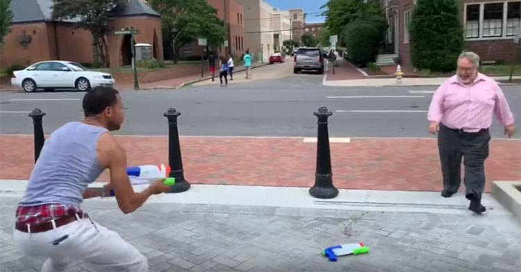 water gun fights
