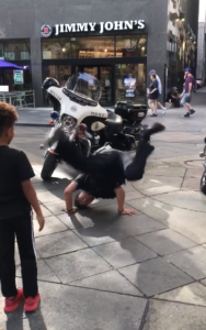 cop break dance battle