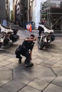 cop break dance battle