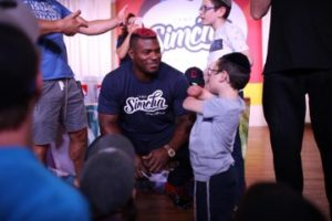 puig with fan at camp simcha