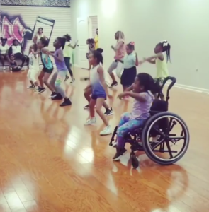 lauren dances in wheelchair