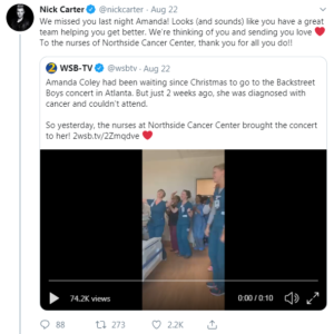 nick carter tweet