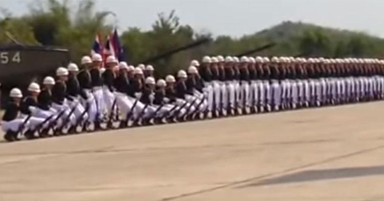 thai drill team