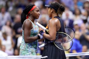 gauff and osaka shake hands