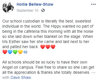 hollie's facebook post