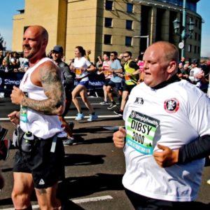 dibsy runs half marathon