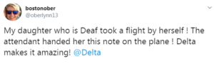 loretta's tweet about delta