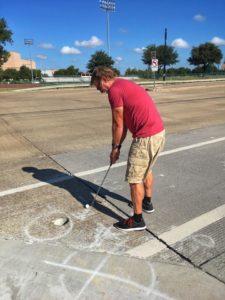 golfing with crosswalk hole