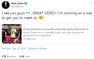 nick carter's tweet