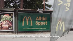 mcdonald's billboard bee hotels