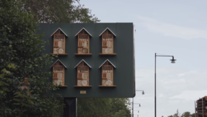 mcdonald's billboard bee hotels